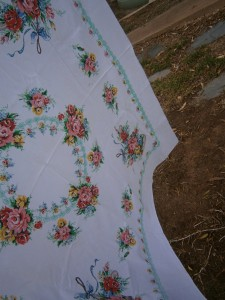 Cath Kidston style print tablecloth