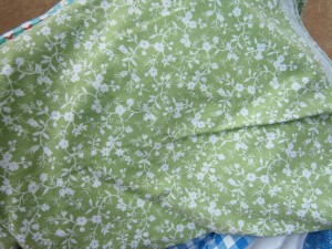 green floral tablecloth