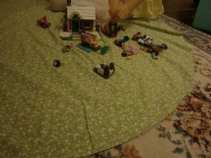 child playing lego
