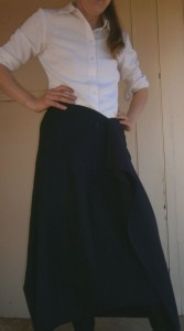 Front view of mystery skirt