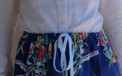 elastic waisted skirt front waist