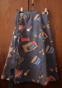 Free wrap skirt pattern skirt on hanger