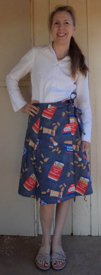 Free wrap skirt pattern skirt worn by Liz