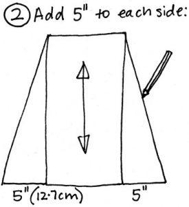 Free wrap skirt pattern step 2