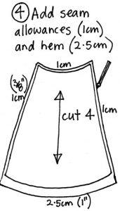 Free wrap skirt pattern step 4