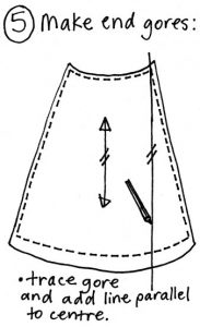 Free wrap skirt pattern step 5