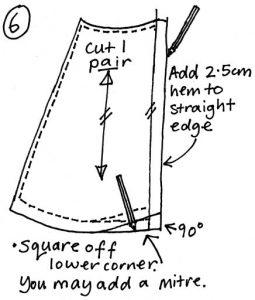 Free wrap skirt pattern step 6
