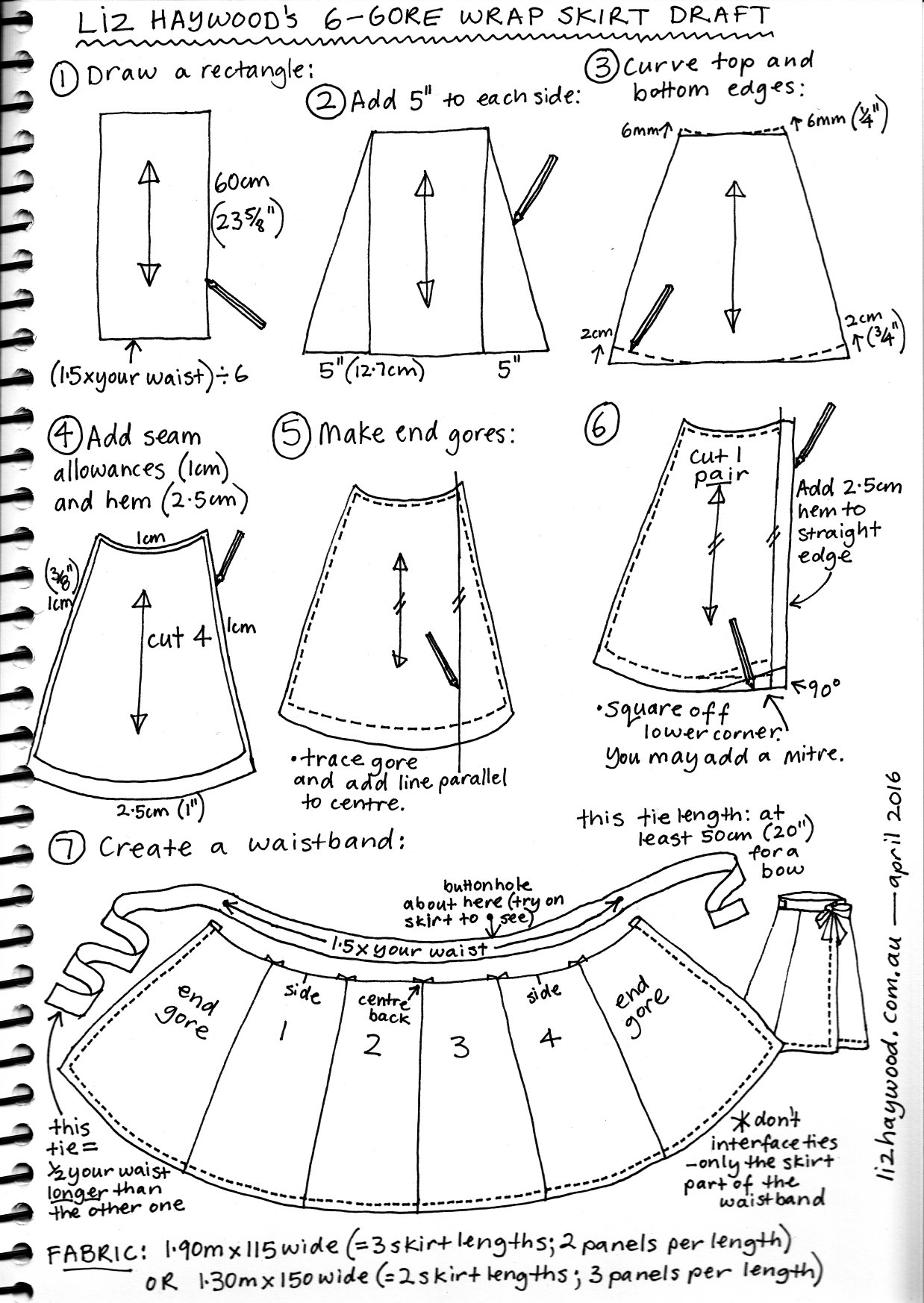 Free pattern wraparound skirt the craft of clothes for Making a blueprint online