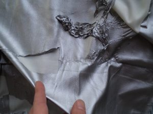 pvc clothing ruined fabric