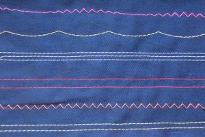 topstitching thread navy blue sample