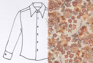 My father's shirt sketch and swatch