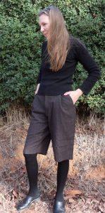 winter shorts finished -checking longer length