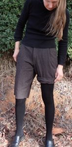 winter shorts finished -checking shorter cuffed length