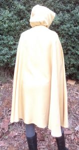 Free pattern dress ups cape gold cape on adult back view