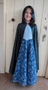 Free pattern dress ups cape green cape front view