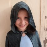Free pattern dress ups cape green cape hood view