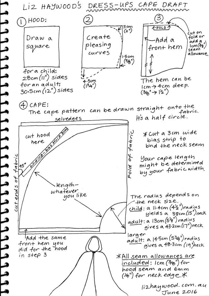 Free pattern dress ups cape pattern all steps
