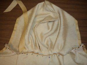Free pattern dress ups cape sewing applying the binding