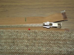Shortening a metal zip step 1 marking the length