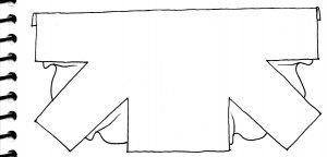 Pattern Magic 2 wearing a square pattern sketch 2