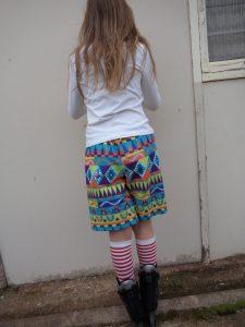 free childrens shorts pattern back view