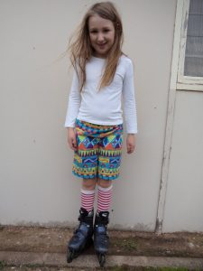 free childrens shorts pattern front view