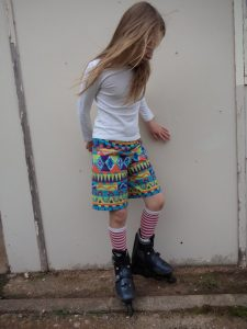 free childrens shorts pattern three quarters view