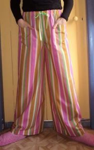 free pyjama pants pattern front view