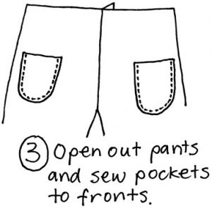free pyjama pants pattern sewing step 3