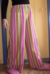 free pyjama pants pattern three quarters view