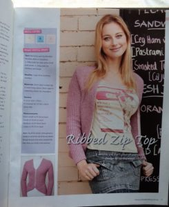 Yarn magazine issue 43 pink ribbed top