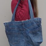 The Jeans Recycling Challenge back view of bag