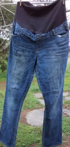 The Jeans Recycling Challenge front view of jeans