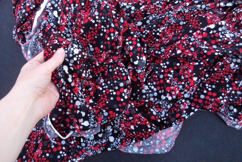 A Christmas Day Dress spotty knit fabric