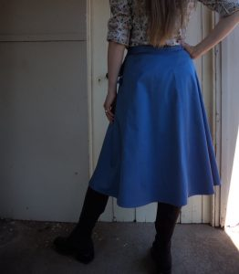 Zero Waste wrap skirt back view