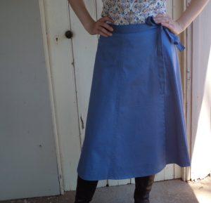 Zero Waste wrap skirt front view