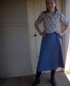Zero Waste wrap skirt full length