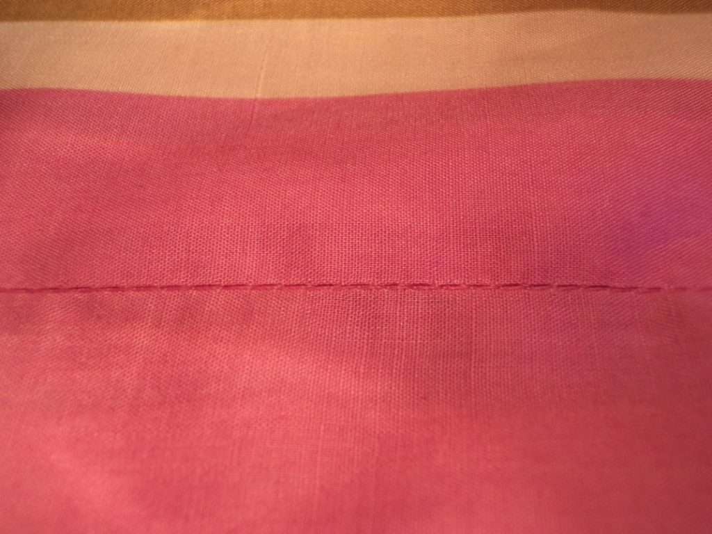 Like or Loathe it stitching in the ditch the finished seam