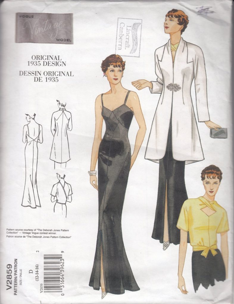 Pattern Review Vogue 2859 top pattern envelope