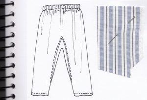 The Disappointing Trousers sketch and swatch