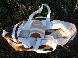 Free pattern Large beach bag interior shot 1