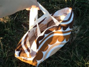 Large beach bag long handles