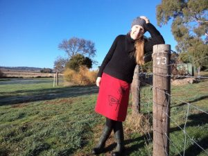 My ex-favourite skirt just became favourite again Cloth Kits red birdie skirt