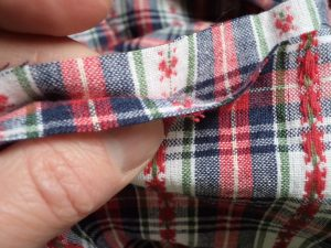 Like or loathe it matching checks, stripes and junctions flip back seam allowance