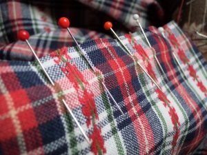 Like or loathe it matching checks, stripes and junctions pin seam