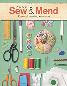 Creating a book cover Practical sew and mend book cover