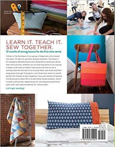 Creating a book cover school of sewing book cover back