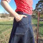 A skirt that goes with everything front pockets
