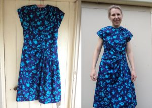 THAT blue dress Vogue 2787 before alterations