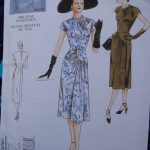 THAT blue dress Vogue 2787 pattern envelope